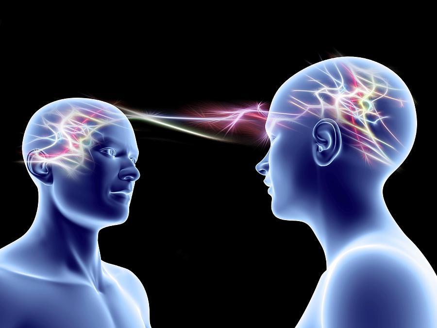 Brain Photograph - Communication by Pasieka