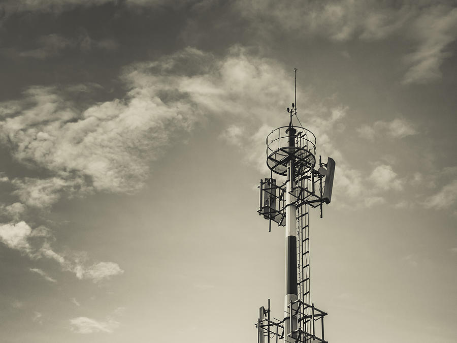 Tower Photograph - Communication Tower by Marco Oliveira