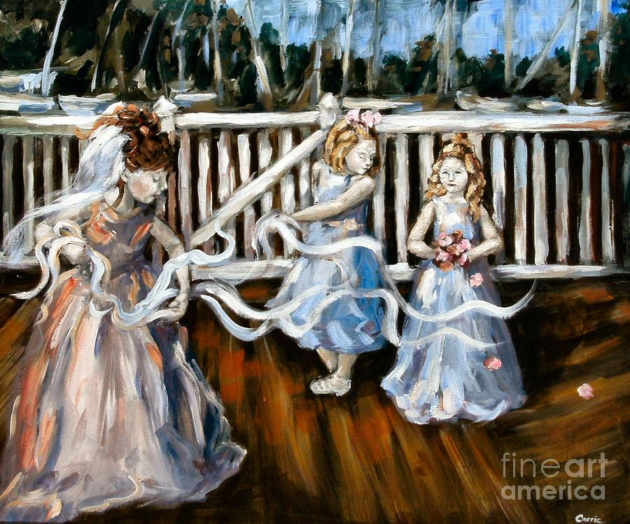 Girls Painting - Communion by Carrie Joy Byrnes