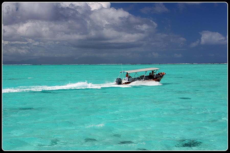 French Polynesia Photograph - Commute Of Bora Bora  by Nick Difi
