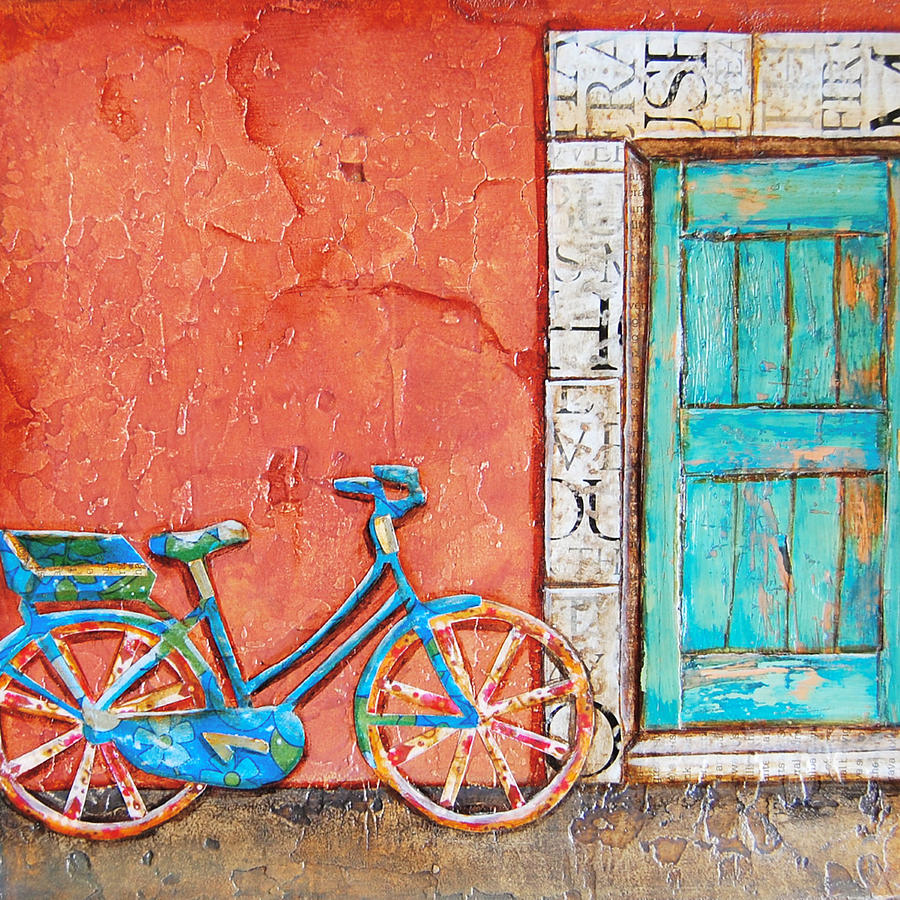Bike Mixed Media - Commuters Dream by Danny Phillips