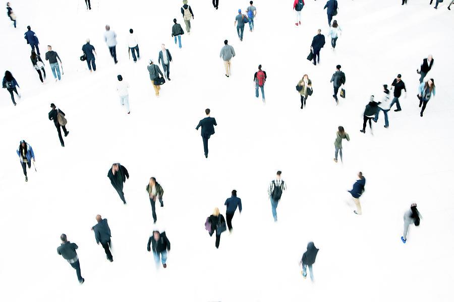 Commuters Photograph by Ferrantraite