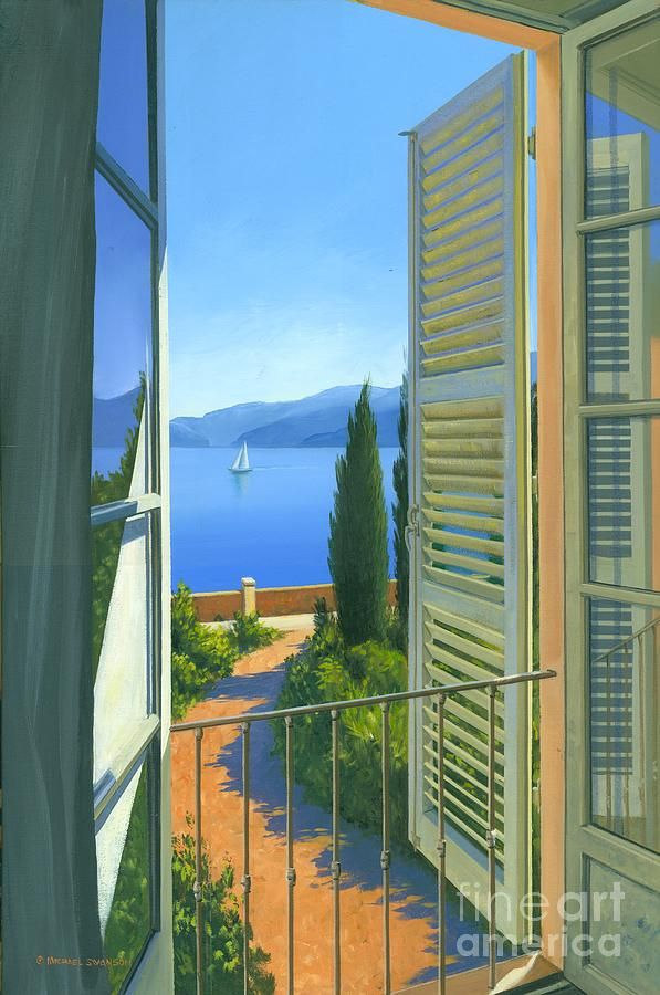 Lake Como Painting - Como View by Michael Swanson