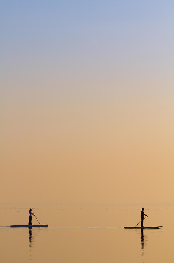 Lake Photograph - Companions by Peter Krenek
