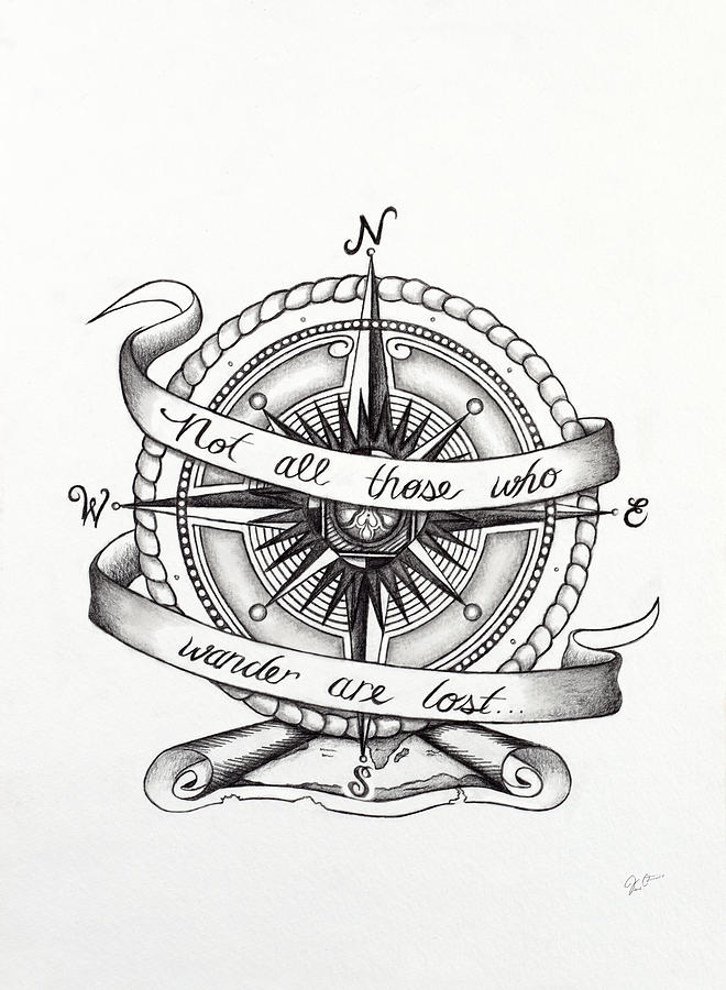 Compass Drawing Drawing By Jon Cotroneo