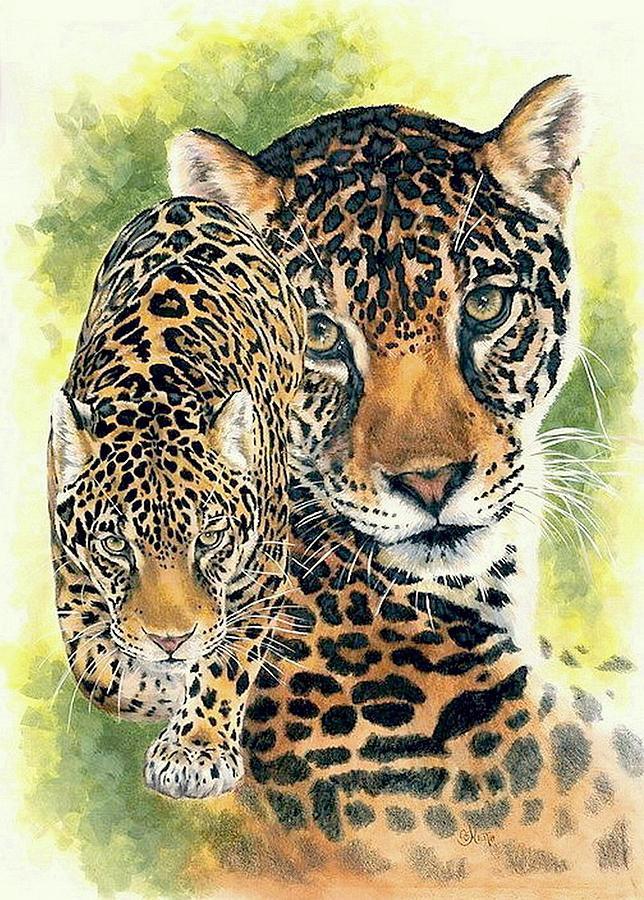 Jaguar Mixed Media - Compelling by Barbara Keith