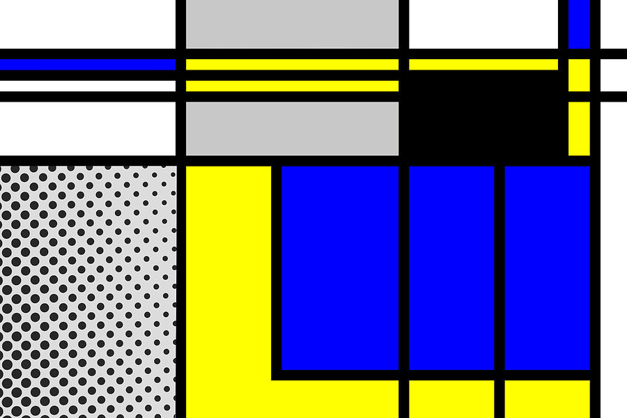 Mondrian Mixed Media - Composition 101 by Dominic Piperata