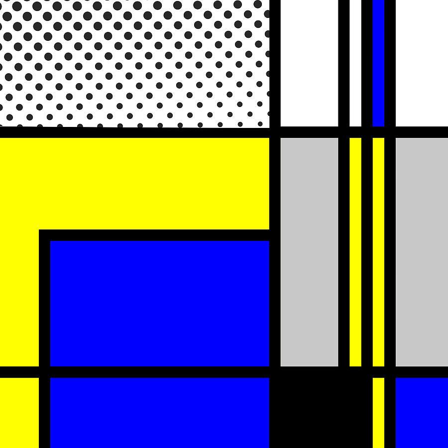 Mondrian Mixed Media - Composition 103 by Dominic Piperata