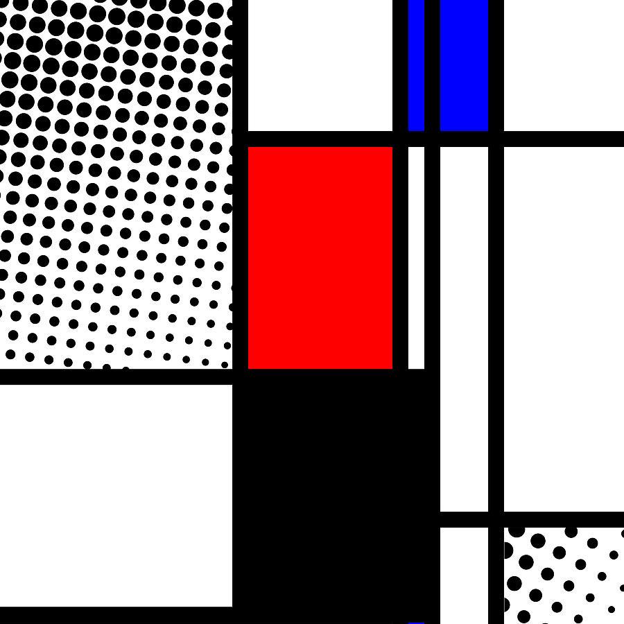 Mondrian Mixed Media - Composition 105 by Dominic Piperata