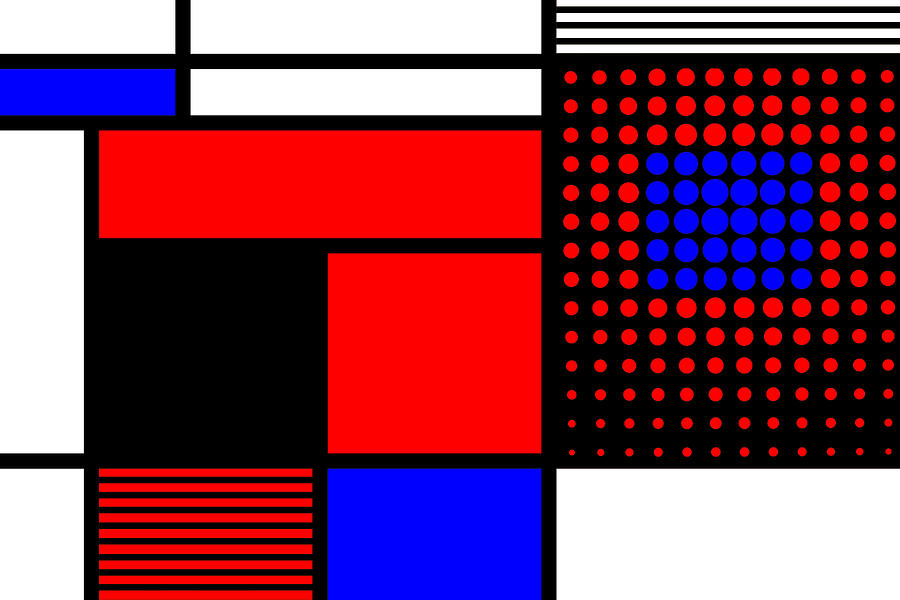 Mondrian Mixed Media - Composition 109 by Dominic Piperata
