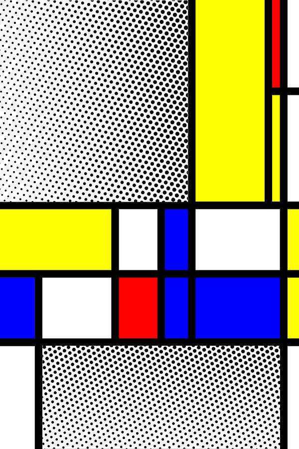 Mondrian Mixed Media - Composition 111 by Dominic Piperata