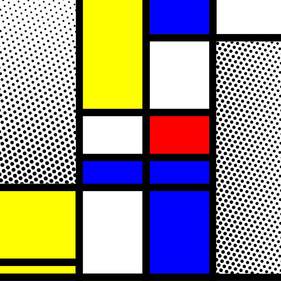 Mondrian Mixed Media - Composition 112 by Dominic Piperata