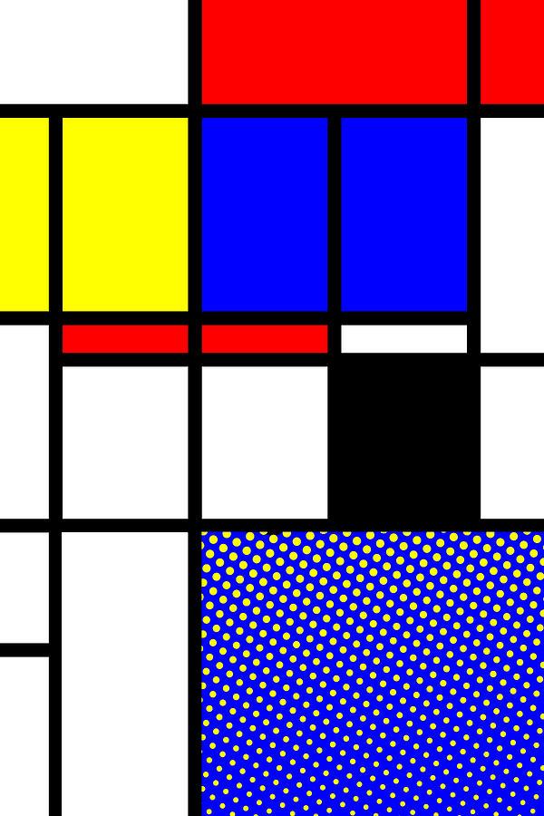 Mondrian Mixed Media - Composition 113 by Dominic Piperata