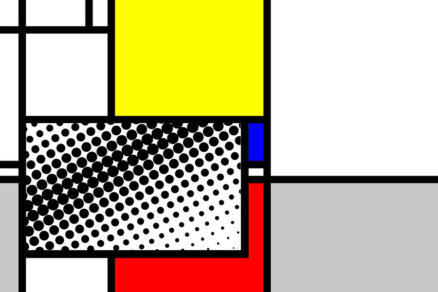 Mondrian Mixed Media - Composition 115 by Dominic Piperata