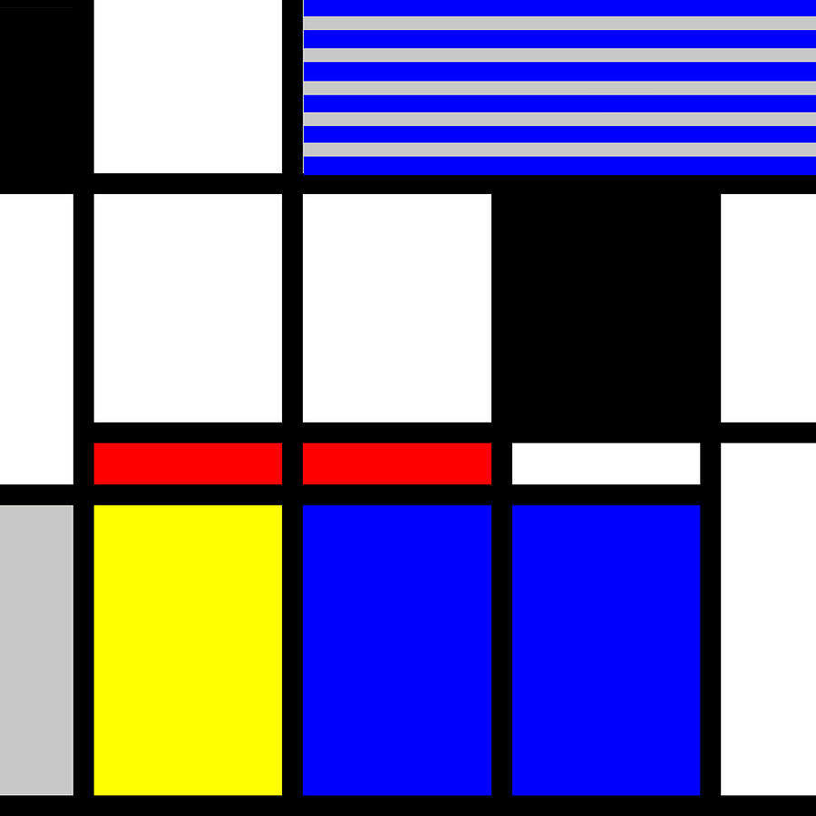 Mondrian Mixed Media - Composition 117 by Dominic Piperata