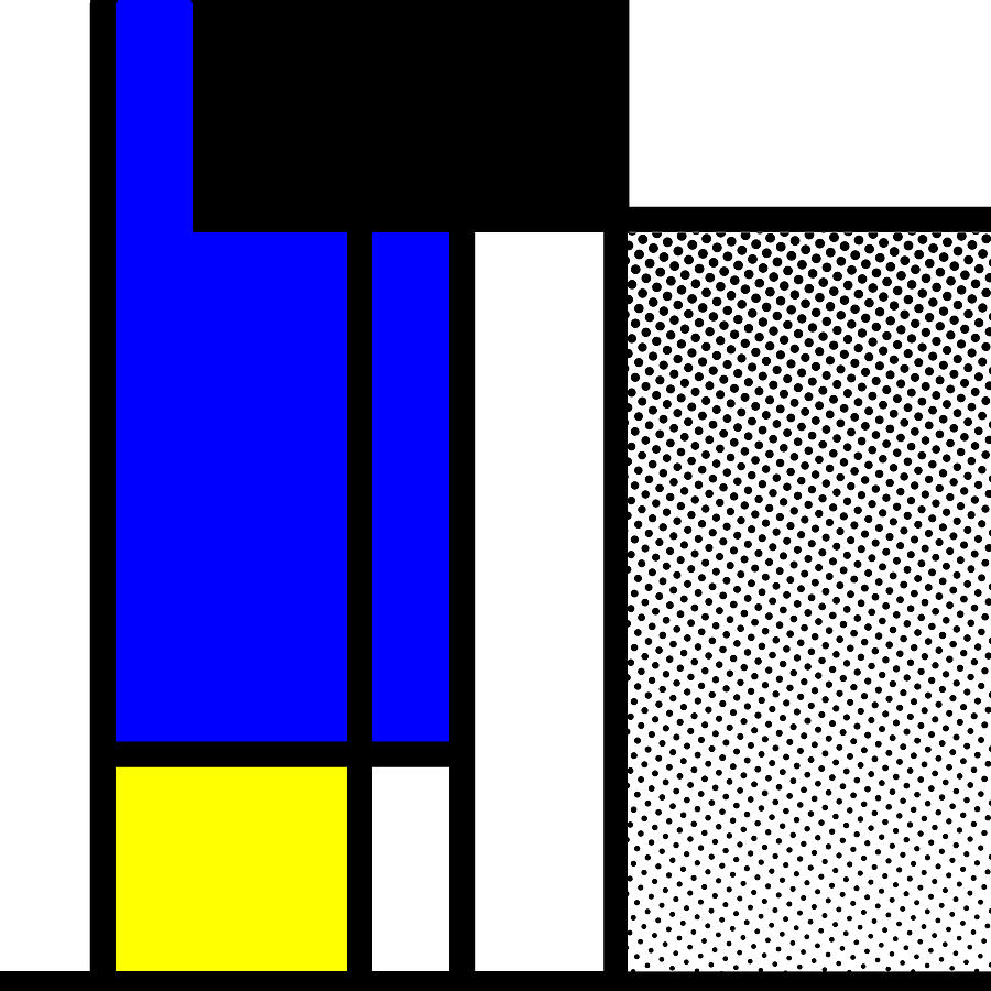 Mondrian Mixed Media - Composition 119 by Dominic Piperata