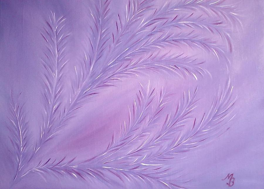 Purple Painting - Composition 12 by Melanie Blankenship