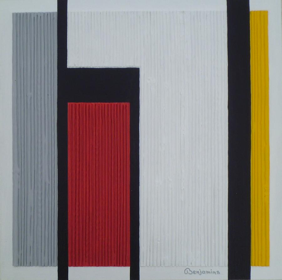 6d5163360e4 Composition In Grey Red And Yellow Painting by Arthur Benjamins