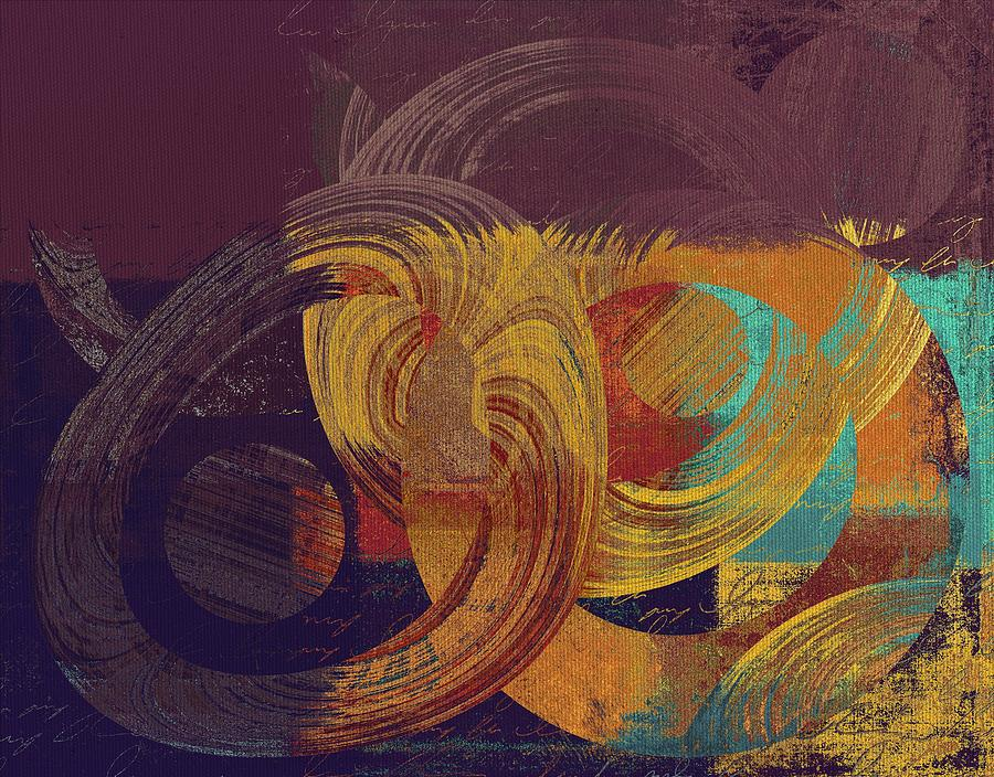 Abstract Digital Art - Composix - 164164100a2t1 by Variance Collections