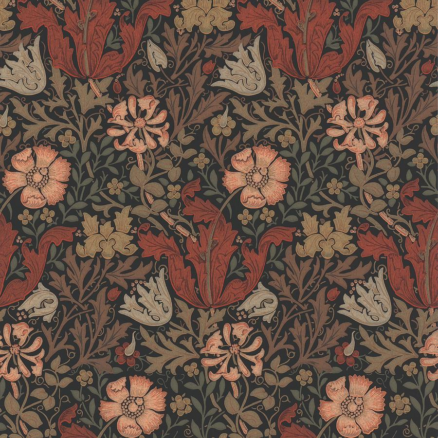 Compton Design Tapestry Textile By William Morris
