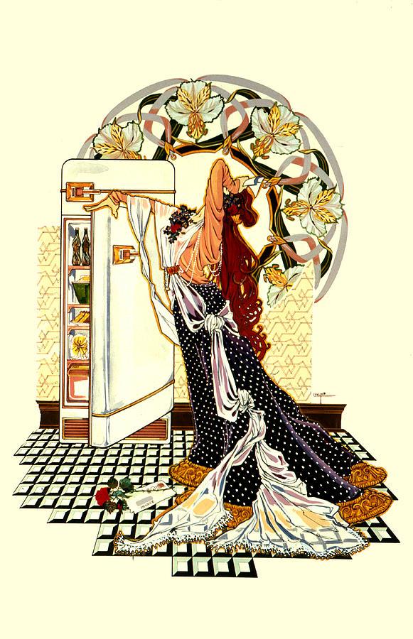 Art Nouveau Painting - Compulsive Eater by Lynette Yencho