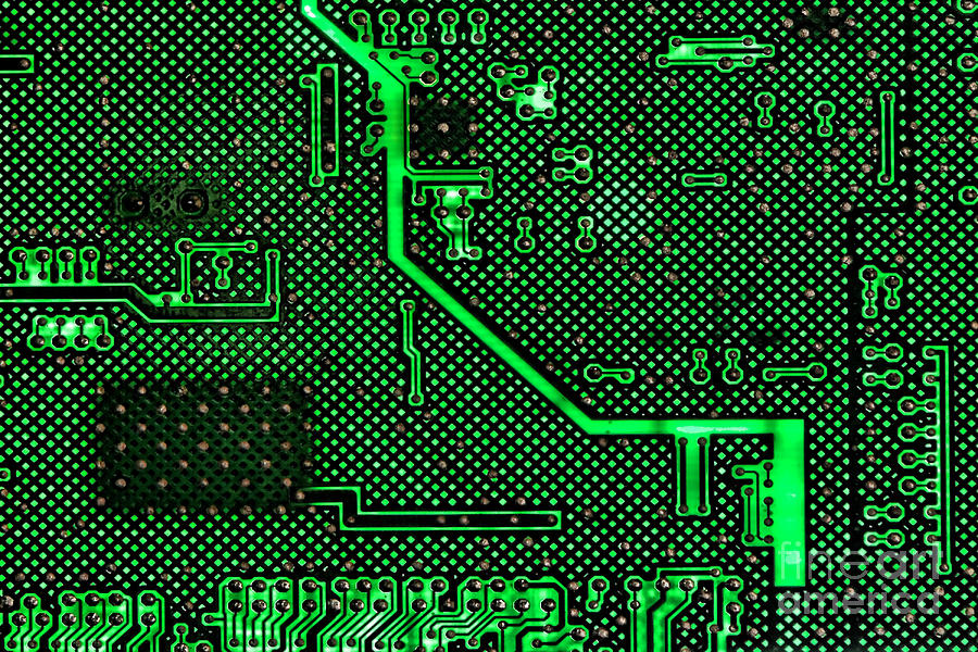 Computer Photograph - Computer Circuit Board by Olivier Le Queinec