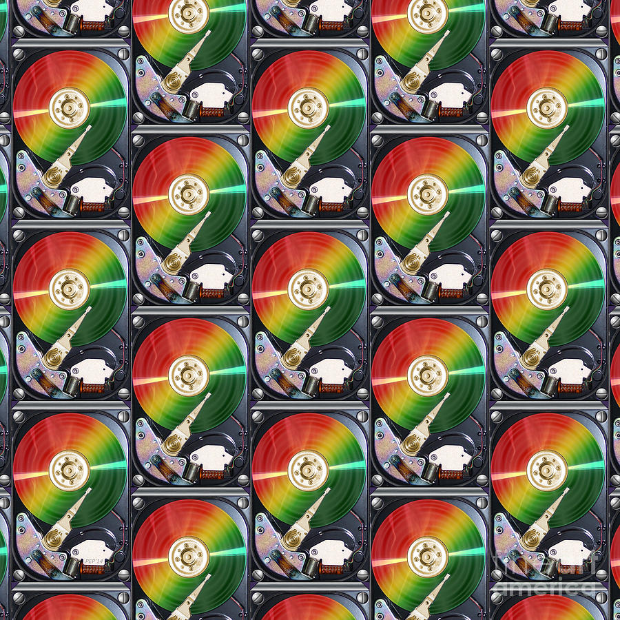 Collage Photograph - Computer Hard Drive Collage by Phil Perkins