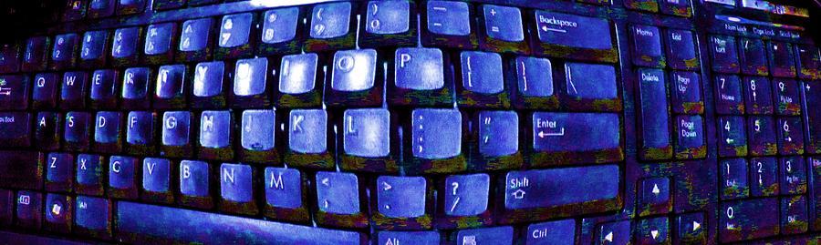 Computer Keyboard Photograph - Computer Keyboard  by Dan Twyman