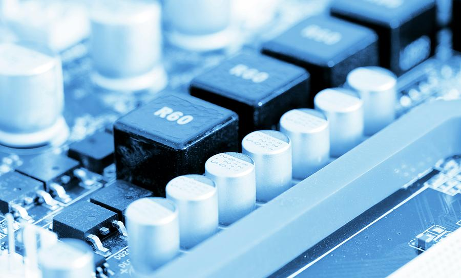 Circuit Photograph - Computer Motherboard by Wladimir Bulgar/science Photo Library