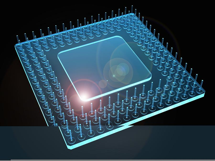 Central Processing Unit Photograph - Computer Processor, Artwork by Science Photo Library