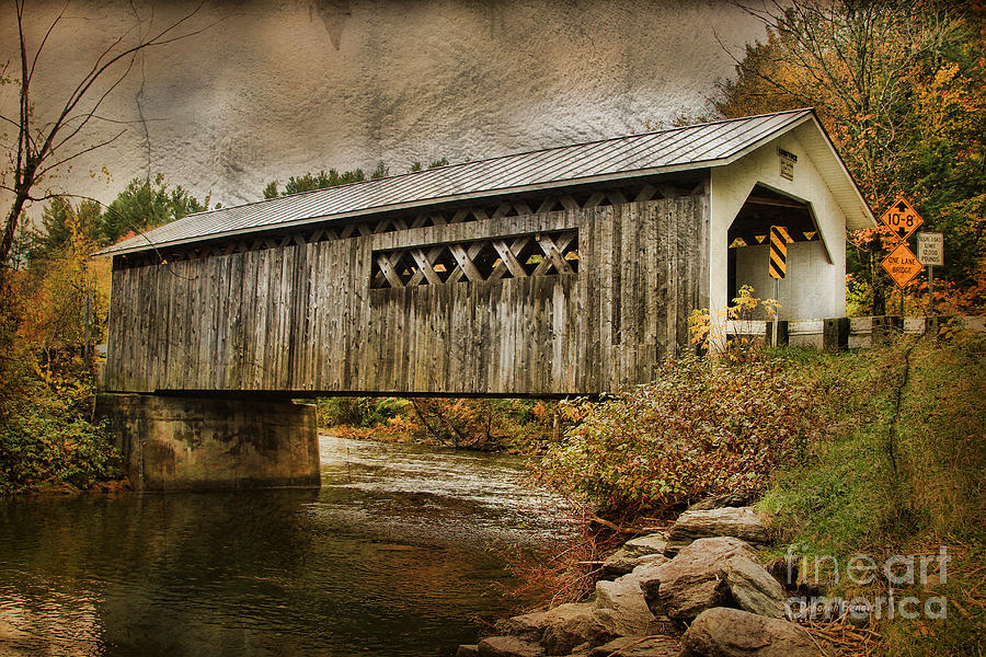 Covered Bridge Photograph - Comstock Bridge 2012 by Deborah Benoit