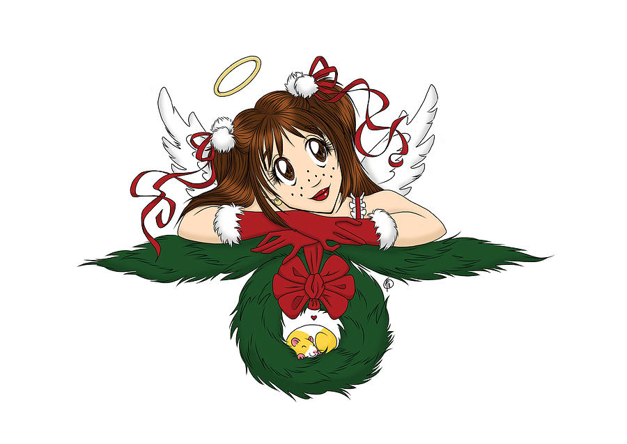 Christmas Card Digital Art - Con Season Lexi Christmas Angel by Con Season
