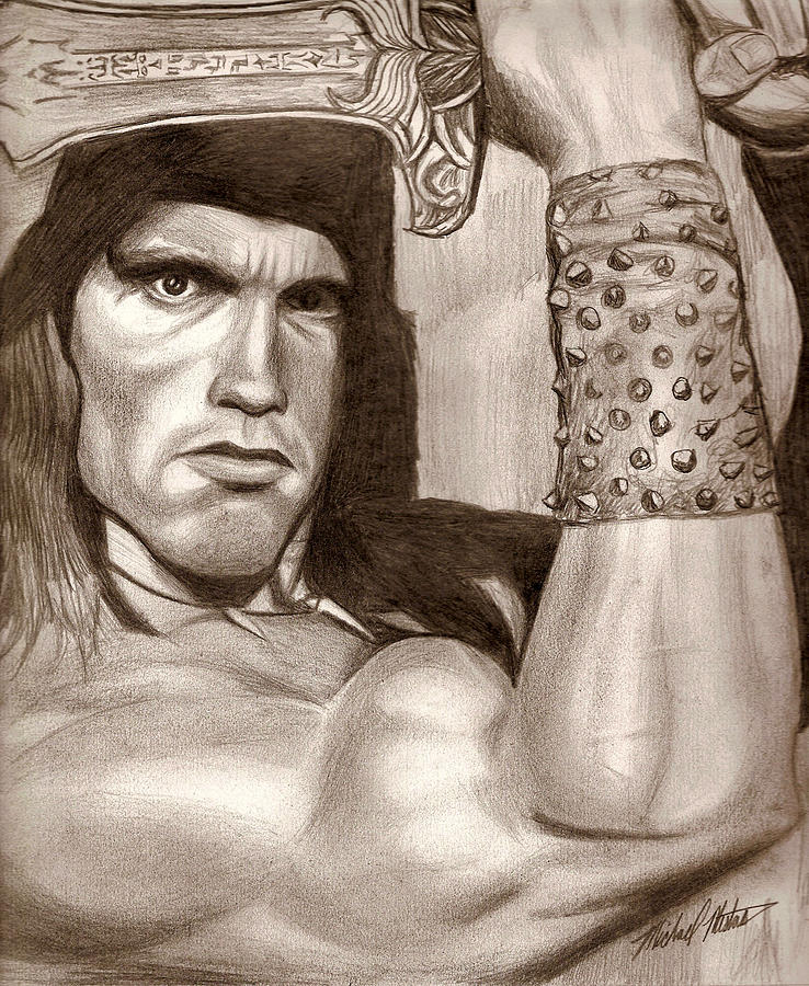 Conan Drawing - Conan by Michael Mestas