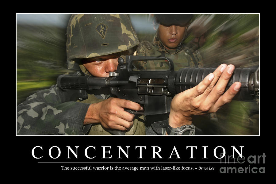 Horizontal Photograph - Concentration Inspirational Quote by Stocktrek Images