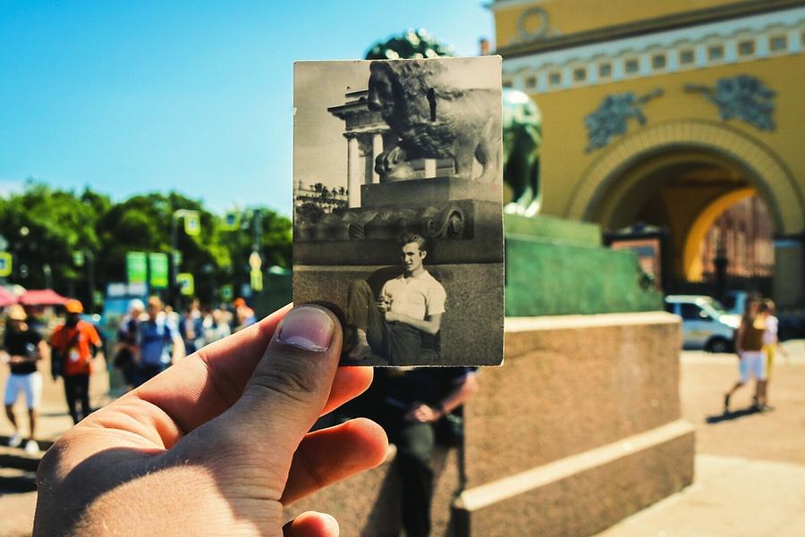 Conceptual Comparison With Old Photograph Outdoors Photograph by Georgy Dorofeev / EyeEm