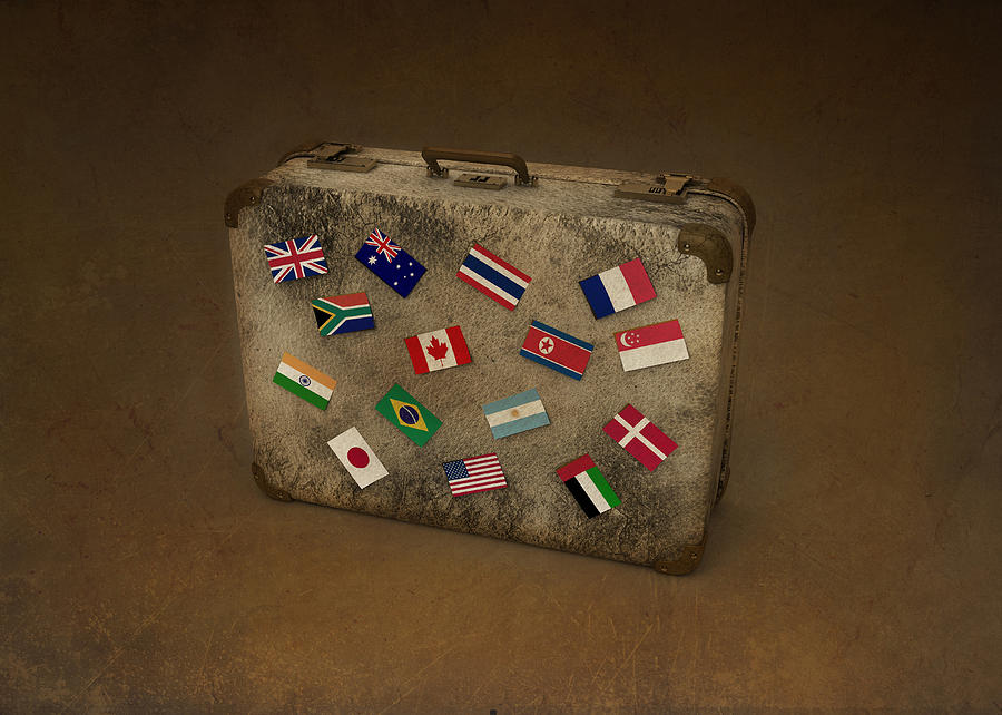 American Flag Photograph - Conceptual Illustration Of Global Business Travel by Fanatic Studio / Science Photo Library