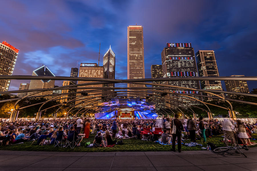 Concert at Millenium Park by James Howe