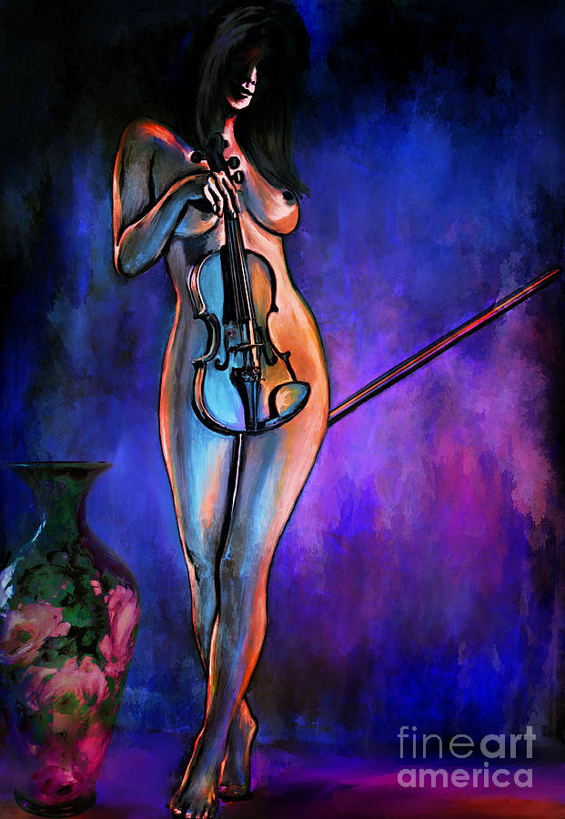 Naked Painting - Concert At Night. by Andrzej Szczerski