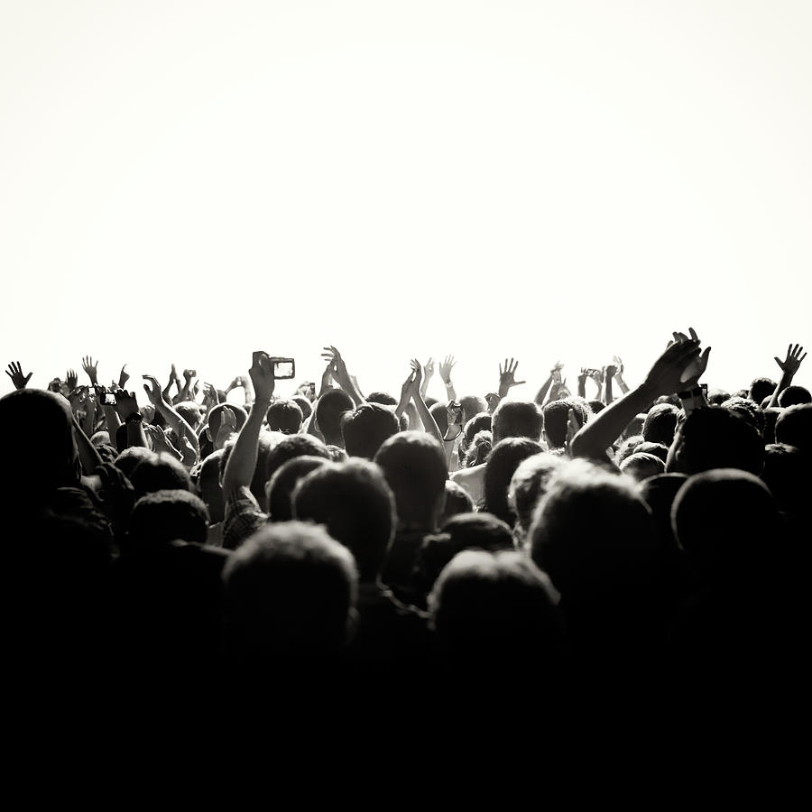 Concert Crowd Photograph by Alenpopov