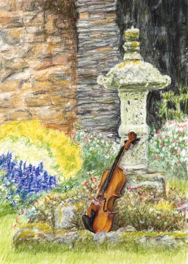 Garden Drawing - Concert Dans Le Jardin by Kate Sumners