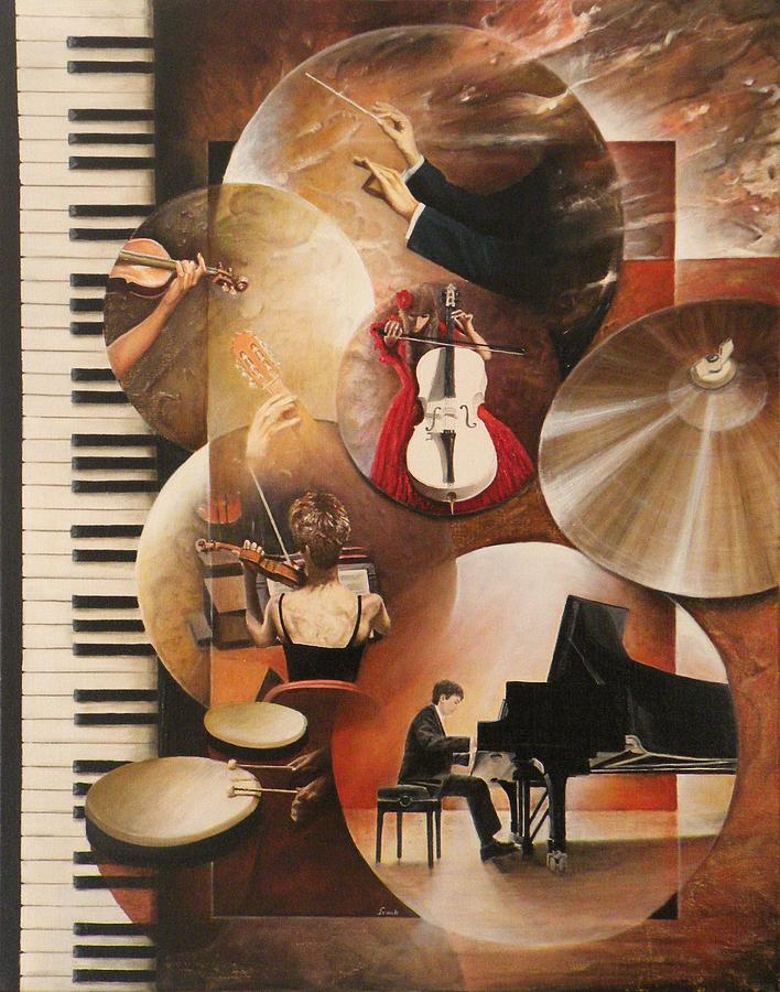 Musique Painting - Concerto Pour Piano by Frank Godille