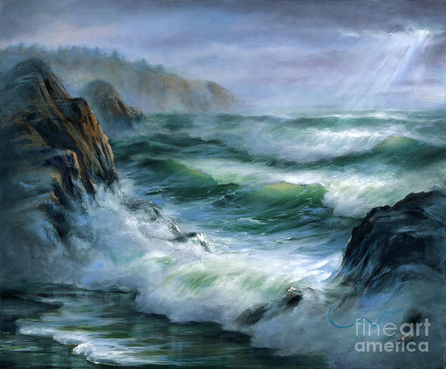 Waves Painting - Concerto by Sharon Abbott-Furze