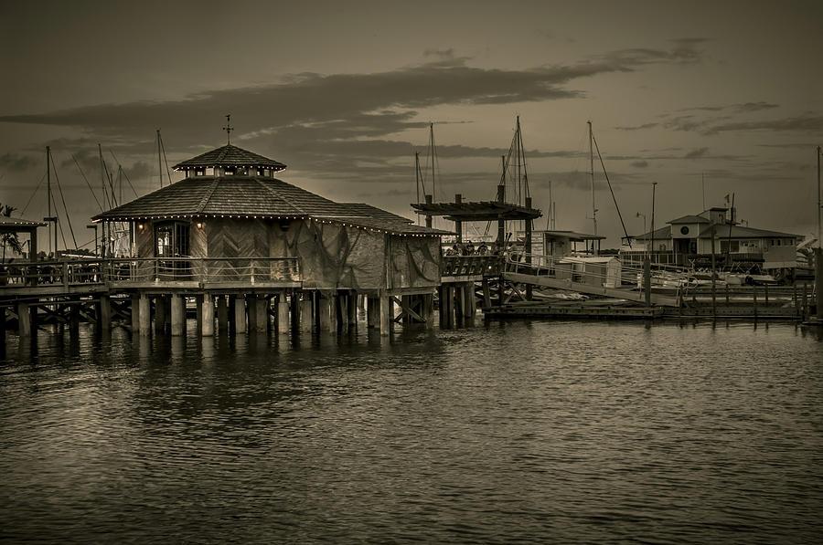 B&w Photograph - Conch House Marina by Mario Celzner