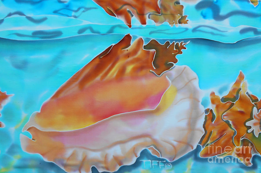 Seafood Painting - Conch Shallows by Tiff