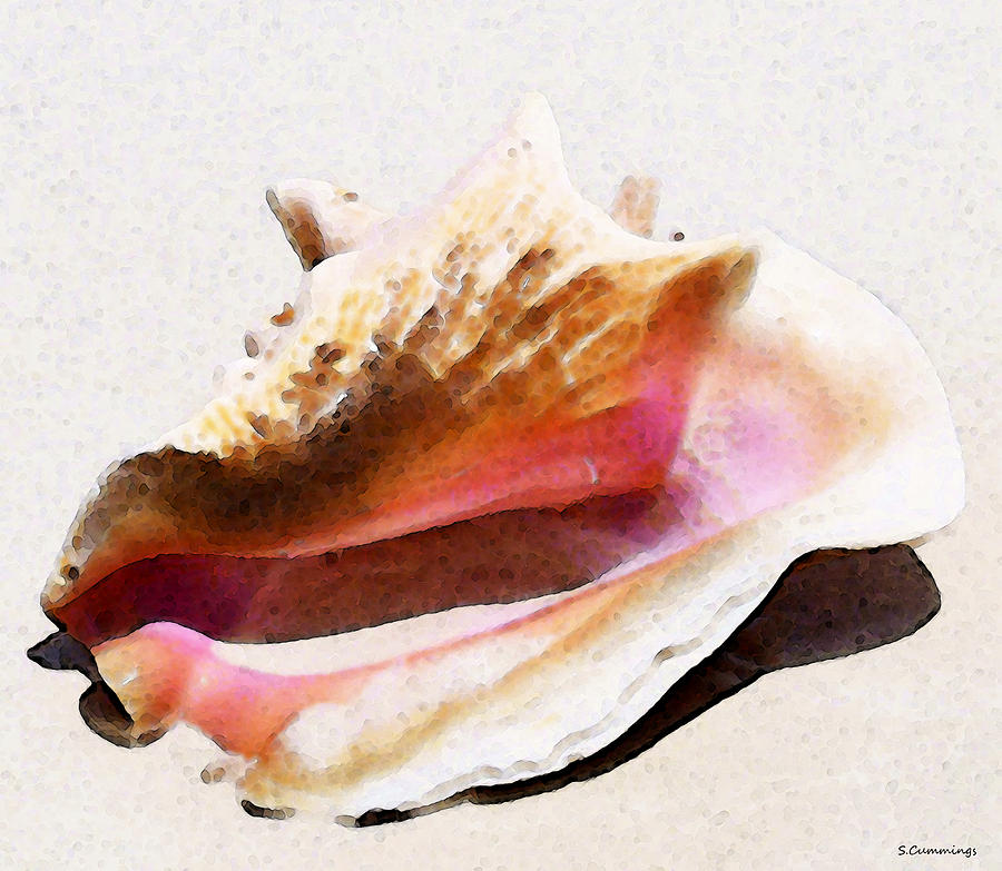 Beach Painting - Conch Shell By Sharon Cummings by William Patrick