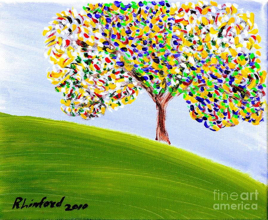 Concord Painting - Concord California Oak 1 by Richard W Linford