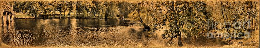 Panorama Photograph - Concord River At Old North Bridge by Nigel Fletcher-Jones