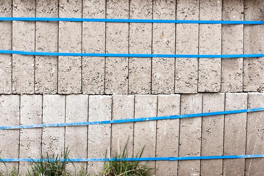 Blocks Photograph - Concrete Blocks by Tom Gowanlock
