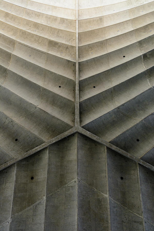 Concrete Fishbone Or Leaf Design Photograph by Olrat