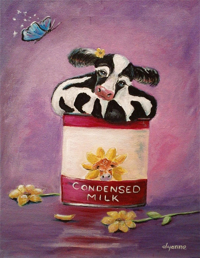 Cows Painting - Condensed Milk by Dyanne Parker